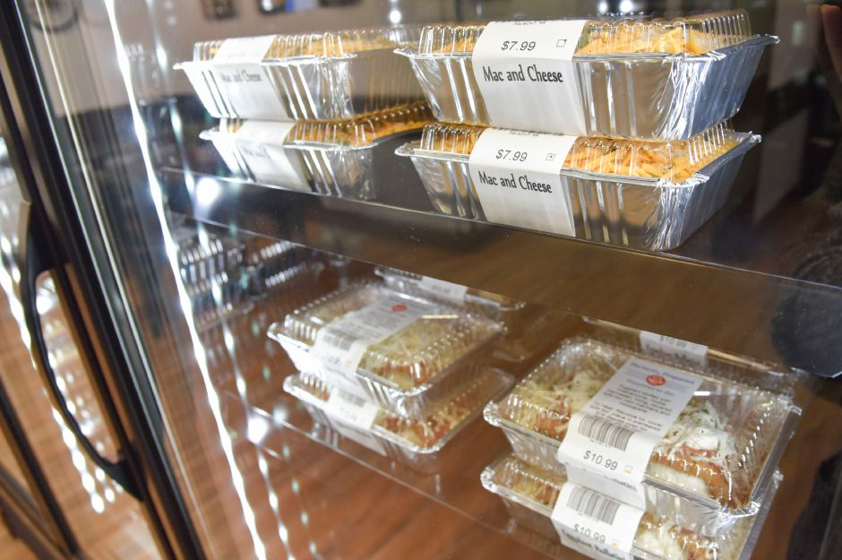 Mac and cheese options available at Perfectly Prepared, Gourmet to Go in Cheshire, pictured on Wednesday, August 28, 2019. | Bailey Wright, Record-Journal