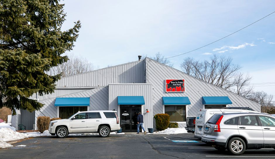 Bone In Prime Steak House, a new restaurant coming to 1410 Highland Ave. in Cheshire, Wed., Feb. 17, 2021. Owners Enzo Beskovic and Fico Cecunjanin are hoping to open in mid to late March. Dave Zajac, Record-Journal