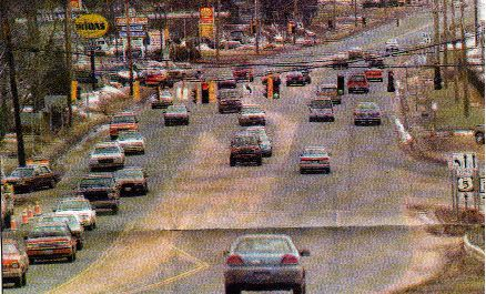 February 1996: The first weekend that Walmart and Super K-Mart were open at the same time caused complaints about traffic congestion and inconsistent lane layout on Route 5. | Record-Journal archive
