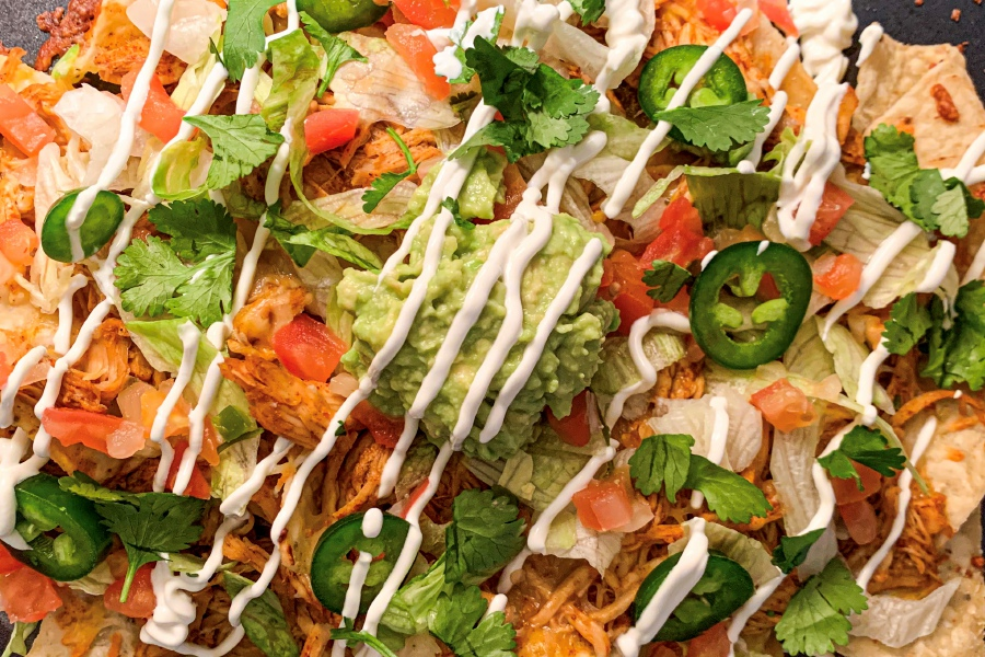 Fresh ingredients and pulled slow cooker chicken make for the most delicious nachos. |Lindsay Pytel, special to Record-Journal