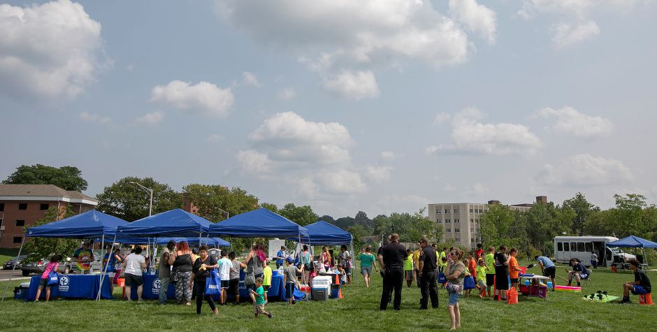 The Community Health Center's health fair on the Meriden Green, Thursday, August 16, 2018. Community Health Center, Inc. is celebrating National Health Center week with a series of fairs around the state, including Meriden's event. Dave Zajac, Record-Journal