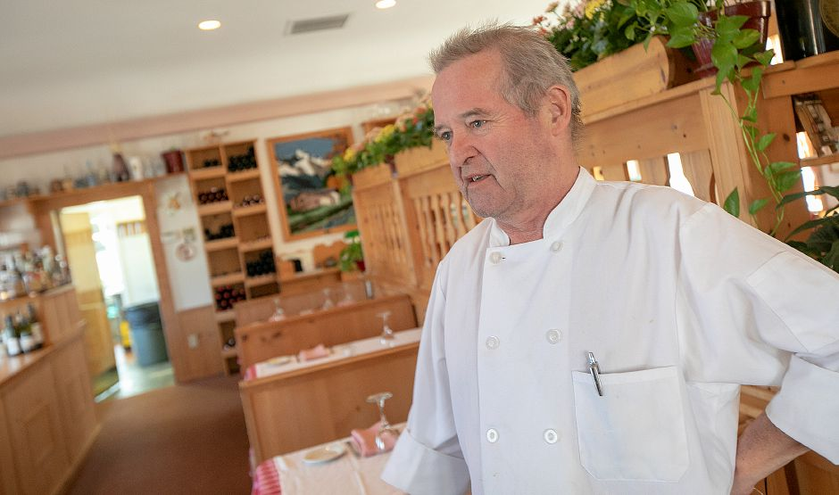 Markus Patsch, of Cheshire, owner of The Watch Factory Restaurant Austrian Country Cuisine, talks about the business at 122 Elm St. in Cheshire, Tues., Feb. 19, 2019. Patsch is looking to retire and has put the restaurant up for sale. Dave Zajac, Record-Journal