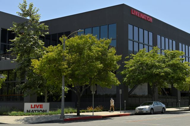 The headquarters of Live Nation is viewed Monday, June 29, 2020, in Beverly Hills, Calif. America