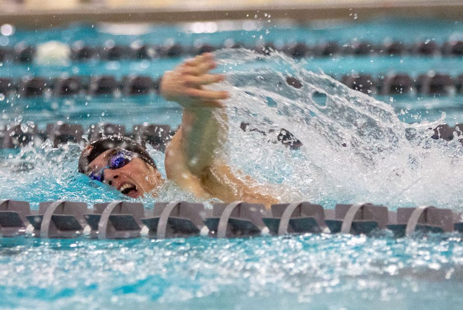 Sheehan's Joey Zellner swims the 200 freestyle.