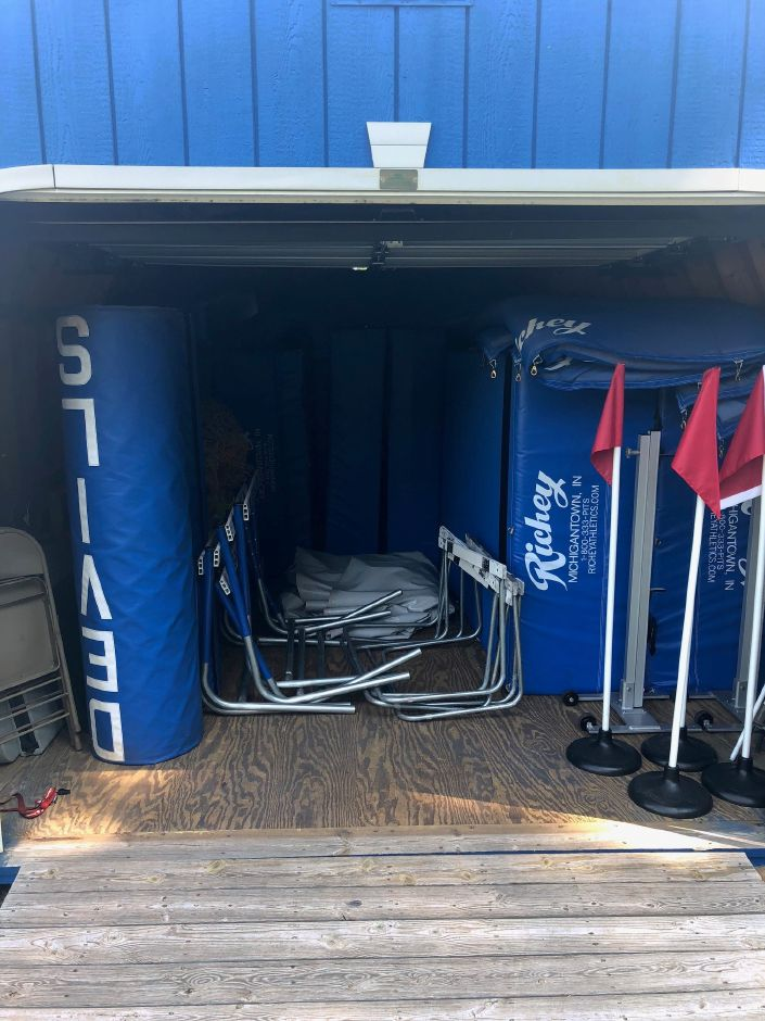 A shed currently used for storage at the Coginchaug Regional High School athletic complex. | Photo Courtesy Nick Faiella