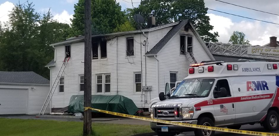 Emergency crews respond to a fire on Fairbanks Street in Plainville Thursday May 16, 2019. | Jeniece Roman, Record-Journal