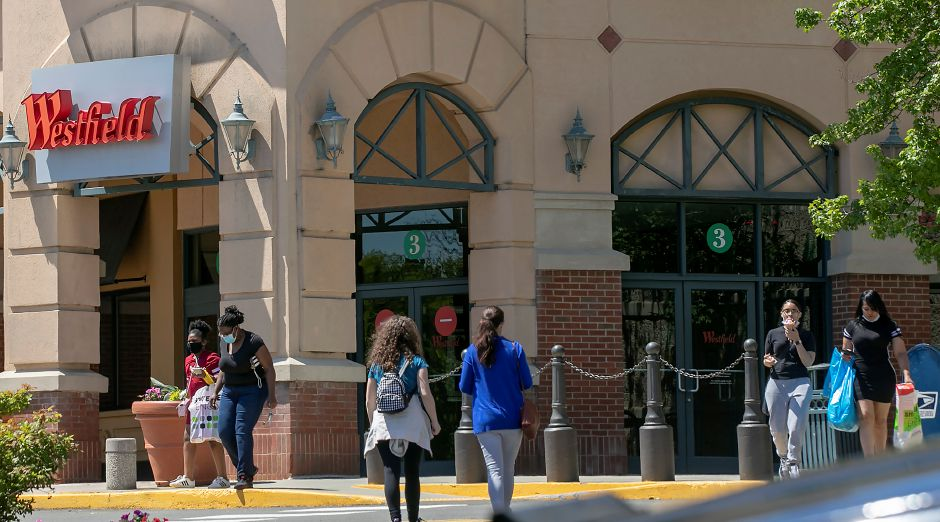 Shoppers return to the Westfield Meriden mall on its first day of reopening, Wed., May 20, 2020. Dave Zajac, Record-Journal