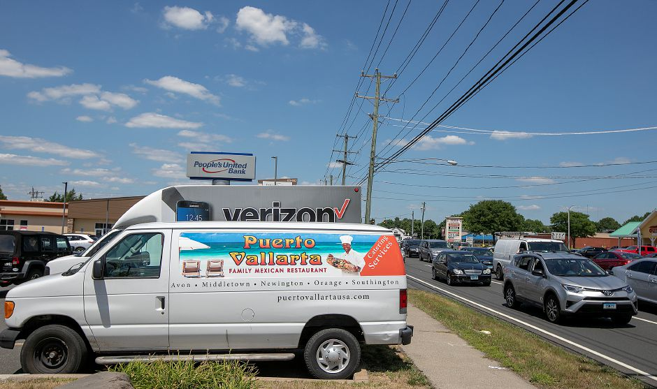 A Puerto Vallarta delivery truck parked close to Queen Street in Southington, July 20, 2018. Parked trucks with company logos classified as mobile billboards is under consideration by the Planning and Zoning Commission. Dave Zajac, Record-Journal