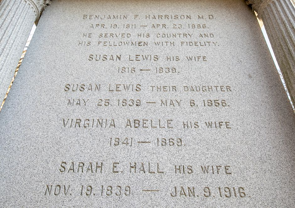 The Benjamin F. Harrison family memorial at In Memorium Cemetery in Wallingford, Wed., Jan. 15, 2020. Dave Zajac, Record-Journal