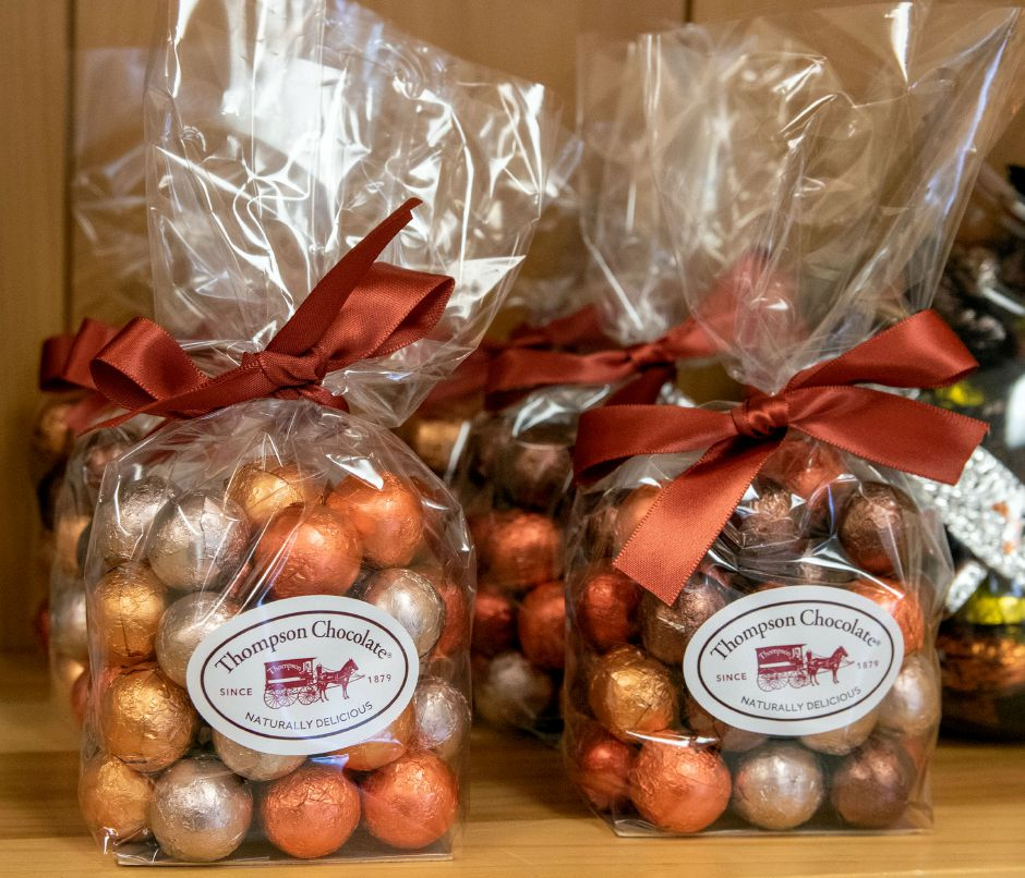 Thompson Chocolate's Autumn Marbles are now for sale at the recently re-opened store. Aaron Flaum, Record-Journal