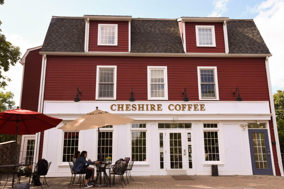 Cheshire Coffee on Wednesday. The coffeehouse recently added fall-themed drinks and food items back to their menu.