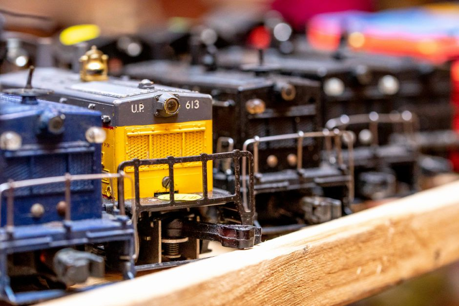 Model trains on display at the Train and Toy Show held by Classic Shows LLC at Zandri