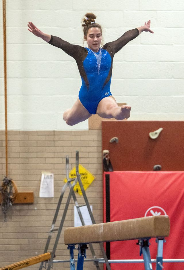 Southington gymnastics scholar-athlete Kat Drechsler led the Lady Knights to their State Open team title with an all-around score of 35.050. During the regular season, Drechsler hit for a 9.6 on beam.