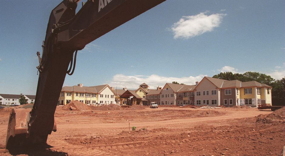 RJ file photo - Construction for Pond Ridge at Ashlar Village, a 69-unit assisted-living complex off Cheshire Road in Wallingford, in July 1998.