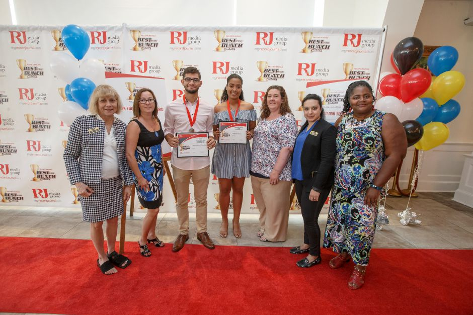 Middlesex Community College Scholar Athletes Muhammad Hamdan and Tatyana Inman Sunday during the third annual Record-Journal Best of the Bunch Brunch Awards at the Aqua Turf Club in Plantsville June 24, 2018 | Justin Weekes / Special to the Record-Journal