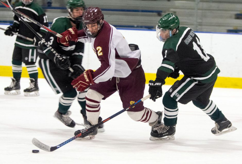 Anthony Romano's 55 points, born of 25 goals and 30 assists, were the team high for an explosive Sheehan team that scored 150 goals this hockey season. Aaron Flaum, Record-Journal