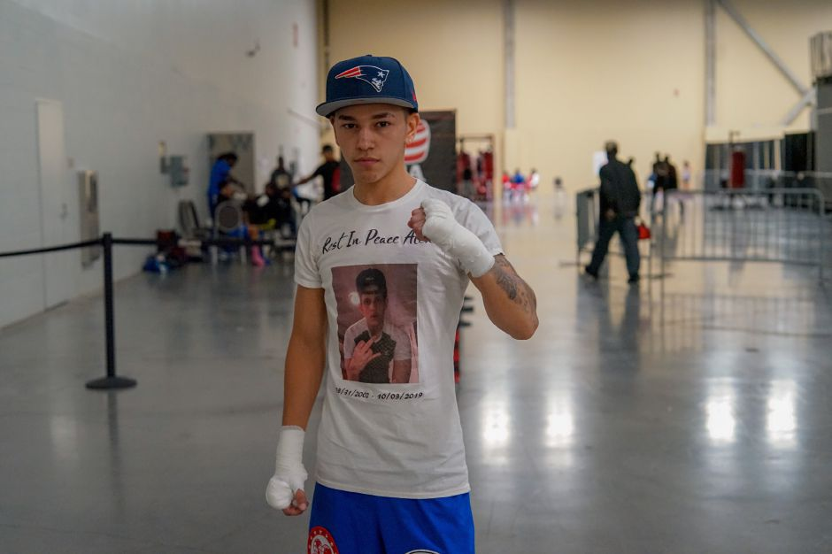 Diego Bengochea collected another boxing crown over the weekend in Columbus, Ohio, winning his weight division at the USA Boxing Eastern Elite Qualifier and Regional Open Championships. The Meriden resident dedicated his win to his friend Alex Medina, who died earlier this month. | Photo courtesy of Miguel Bongochea