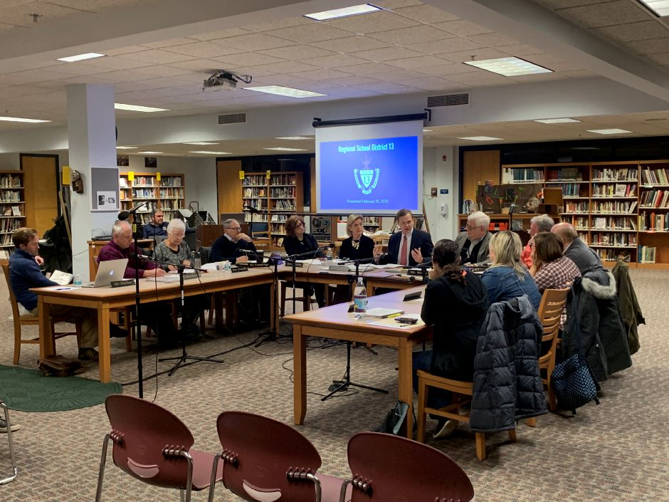 The RSD13 Board of Education met with their attorney, Matt Ritter, to discuss next moves in amending their regionalization plan after their last amendment was struck down at referendum.Photo by Everett Bishop, Town Times