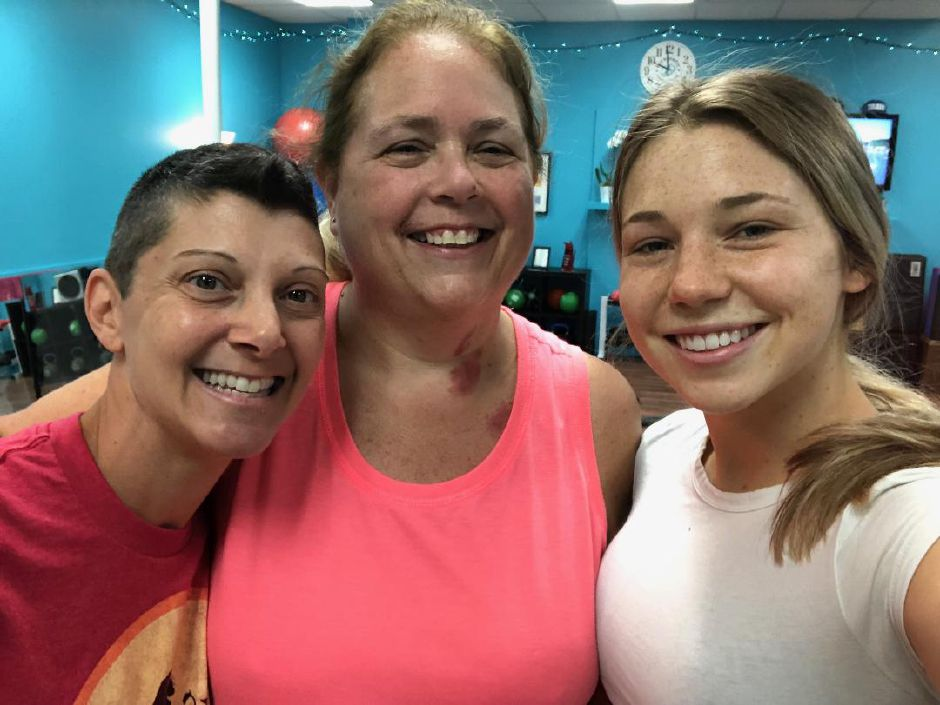 Jennifer Nuzzo, Linda Gilbert, and Kristen Dearborn pose for a post workout selfie. Main Street Wellness Studio, Wallingford. |Kristen Dearborn, special to the Record-Journal