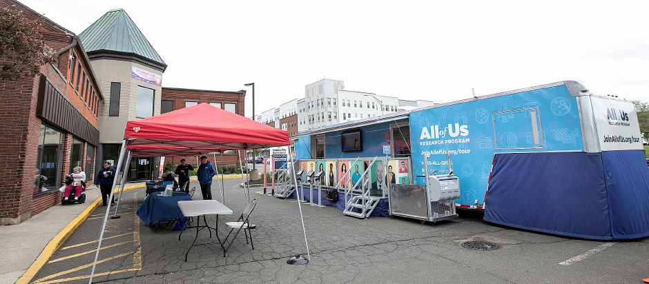 The All of Us Mobile Education and Enrollment Center at the Community Health Center on State Street in Meriden, Mon., May 13, 2019. All of Us visits communities nationwide to raise awareness about the All of Us research program. Dave Zajac, Record-Journal