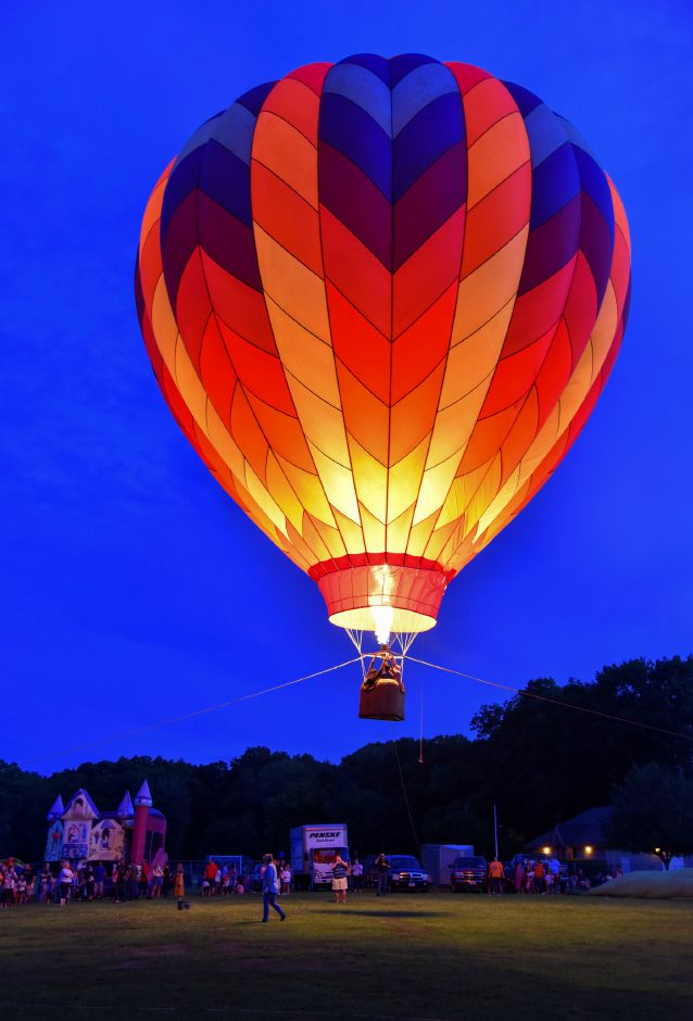 The 35th annual Plainville Fire Company Hot Air Balloon Festival kicked off Friday night, August 23, 2019, at Norton Park. The evening