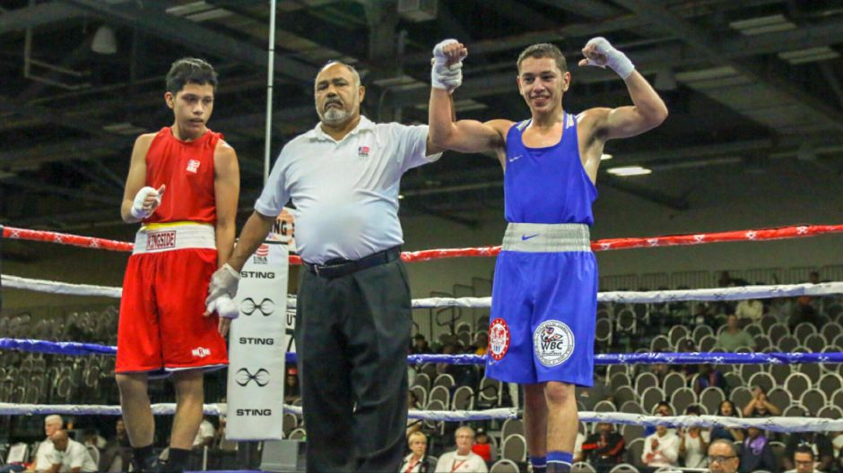 Diego Bengochea won both his fights at the USA Boxing Eastern Elite Qualifier and Regional Open Championships in Columbus, Ohio by unanimous decision.| Photo courtesy of Miguel Bongochea