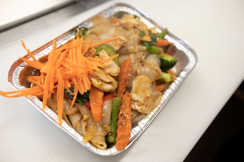 Drunken noodle available at the new Thai-Tanic Cuisine, 784 E. Main St. in Meriden, Fri. Feb. 8, 2019. Dave Zajac, Record-Journal