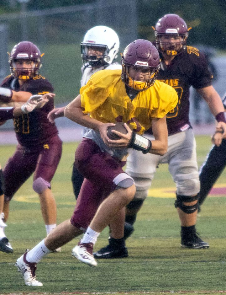 Sheehan senior Kyle Simmons takes over at quarterback for graduated three-year starter Wes Terzi. | Aaron Flaum, Record-Journal