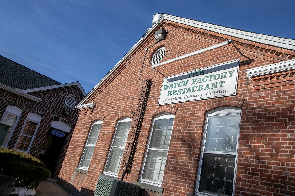 The Watch Factory Restaurant Austrian Country Cuisine at 122 Elm St. in Cheshire, Tues., Feb. 19, 2019. Owner Markus Patsch is looking to retire and has put the restaurant up for sale. Dave Zajac, Record-Journal