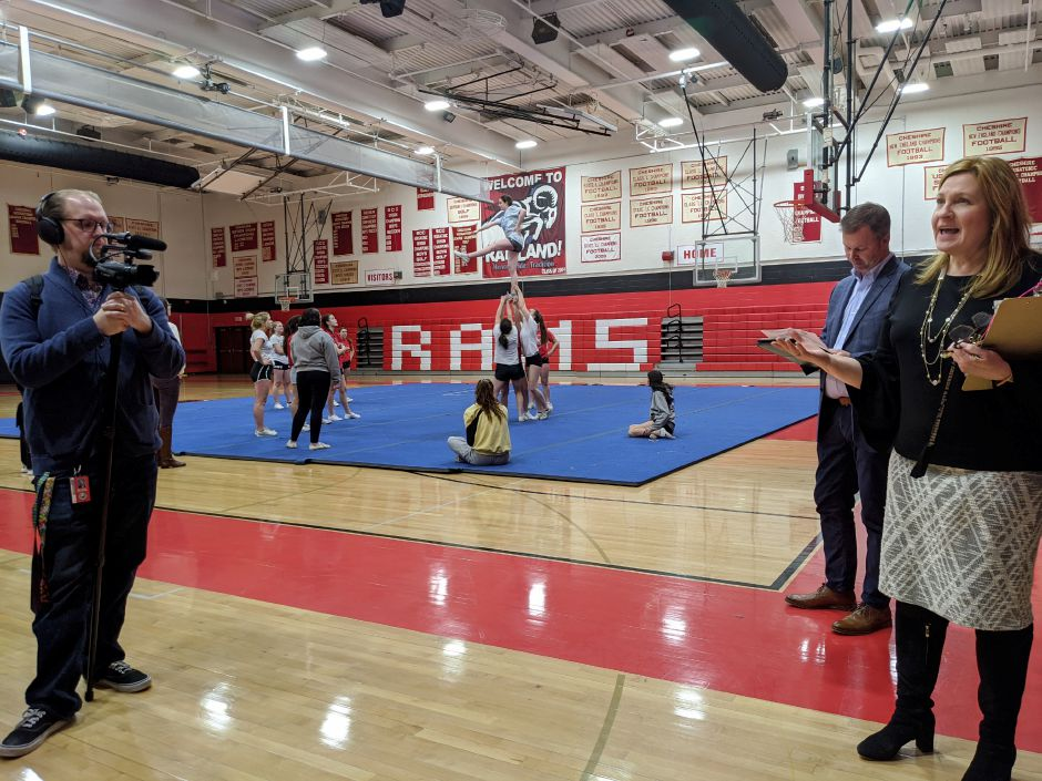 FILE PHOTO – School Modernization Committee tours Cheshire High School