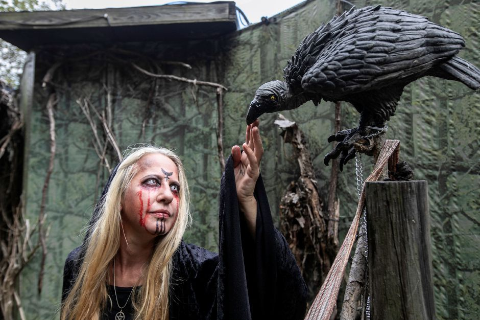 Erika Allen, of Thomaston, plays a witch at this year