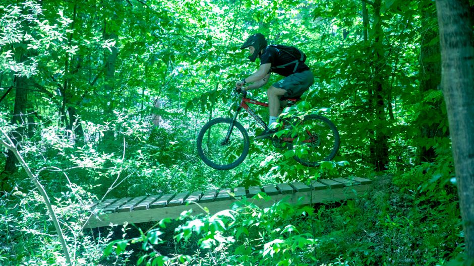 Training director Tom Loring says Powder Ridge has seen a surge in activity since mountain biking and disc golf returned on May 21.| Devin Leith-Yessian/Record-Journal