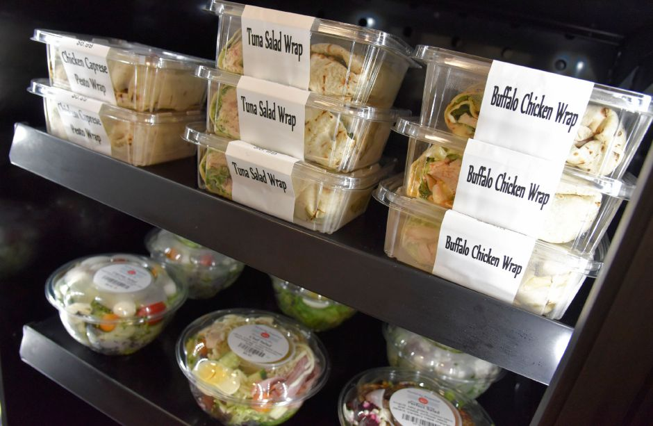 A variety of salads and wraps available at Perfectly Prepared, Gourmet to Go in Cheshire, pictured on Wednesday. Photos by Bailey Wright, Record-Journal