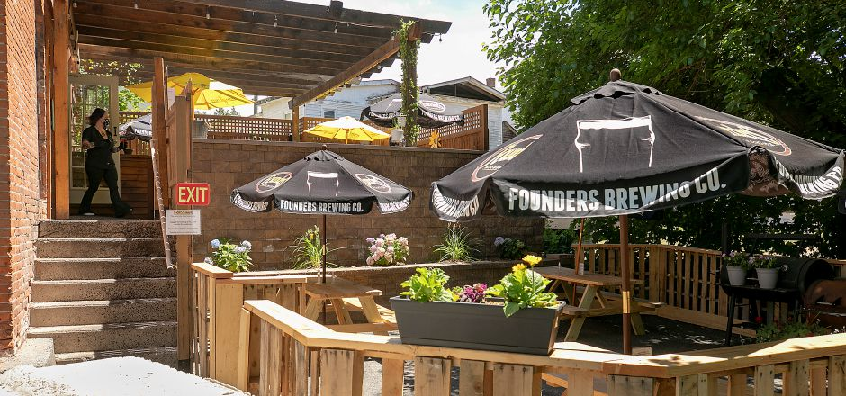The new patio at the Hop Haus, 28 W. Main St. in Plantsville, Thurs., Jun. 25, 2020. Dave Zajac, Record-Journal