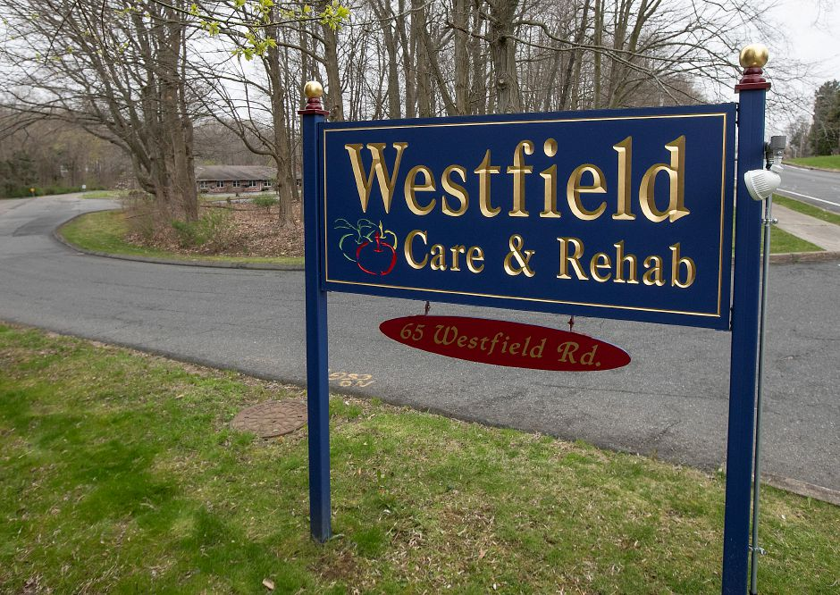 The former Westfield Care and Rehab, 65 Westfield Rd., Meriden, Tues., Apr. 21, 2020. The former nursing facility is one of several approved by the state Department of Public Health and will act as a transition facility where COVID-19 positive nursing home residents can stay after being discharged from the hospital. Dave Zajac, Record-Journal