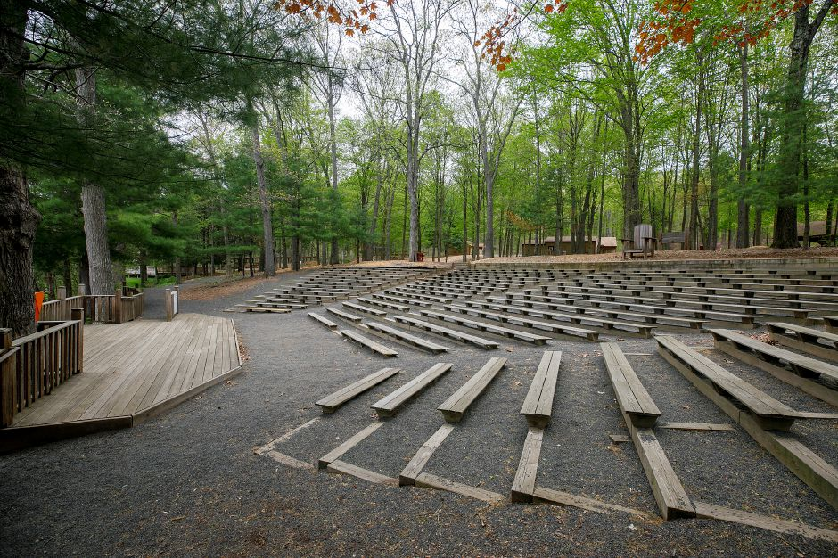 The theater at YMCA Camp Sloper in Southington, Mon., May 3, 2021. Dave Zajac, Record-Journal
