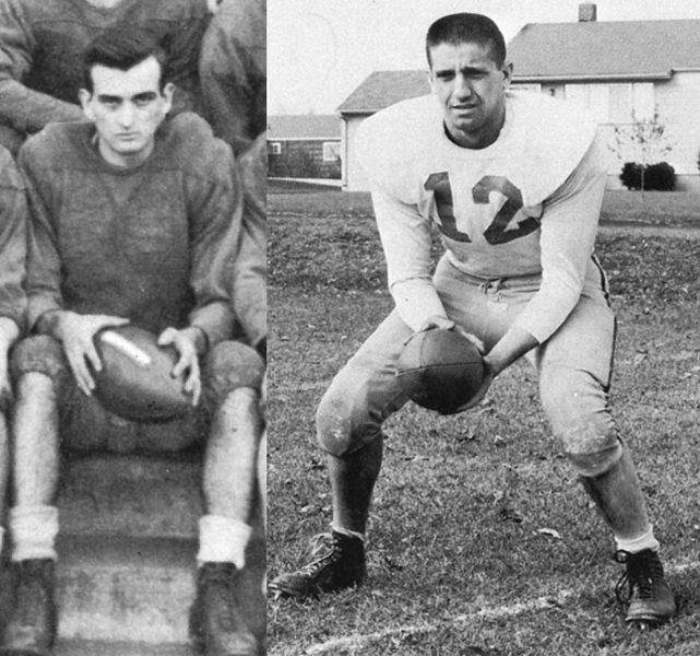 Hall of Fame inductees Steve Baccaro (Class of 1947) and Phil Perretta (Class of 1961).