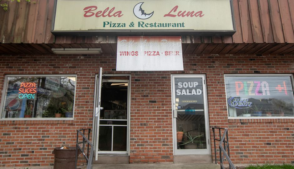 Bella Luna Pizza & Restaurant on Liberty Street in Meriden, Fri., May 1, 2020. The restaurant is now offering pizza kits. $10 for one large dough with cheese and sauce. Additional toppings are extra. Dave Zajac, Record-Journal