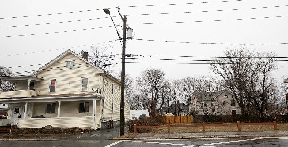 A house at 554-556 Broad St. and land parcel at 562 Broad St. in Meriden.  File photo, Record-Journal