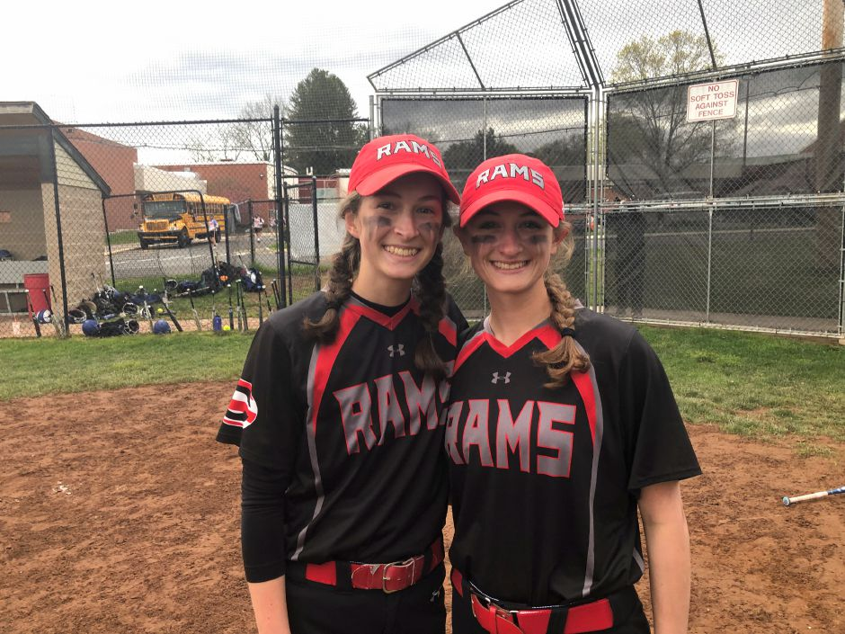 In going on to play softball in college, Danielle Floyd (left) is following in the footsteps of older sister Bri Floyd (right), who is at William Patterson in New Jersey. Cheshire Herald photo