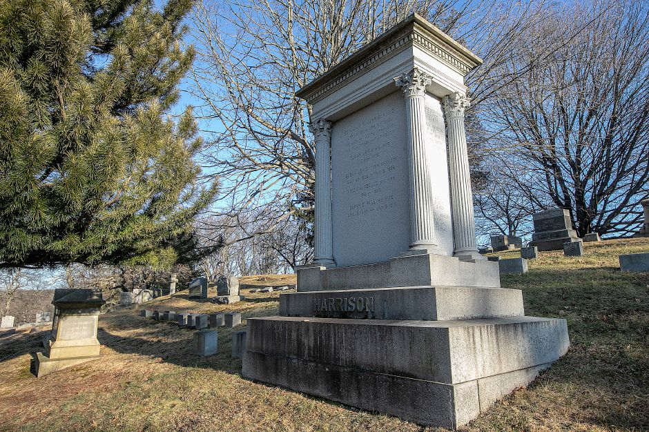 The grave of Benjamin F. Harrison at In Memoriam Cemetery in Wallingford, Wed., Jan. 15, 2020. Dave Zajac, Record-Journal