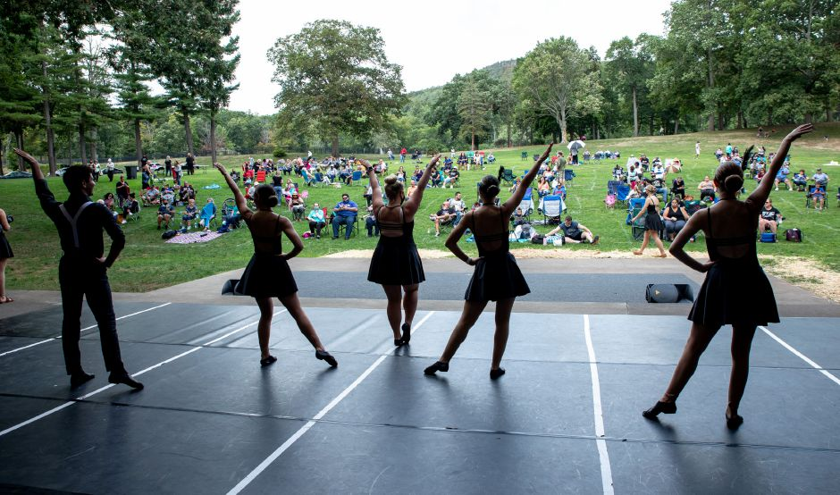 Miss Chantel's Star Dance Academy's  annual performance, postponed from June, was moved from Platt High School to the amphitheater in Hubbard Park.