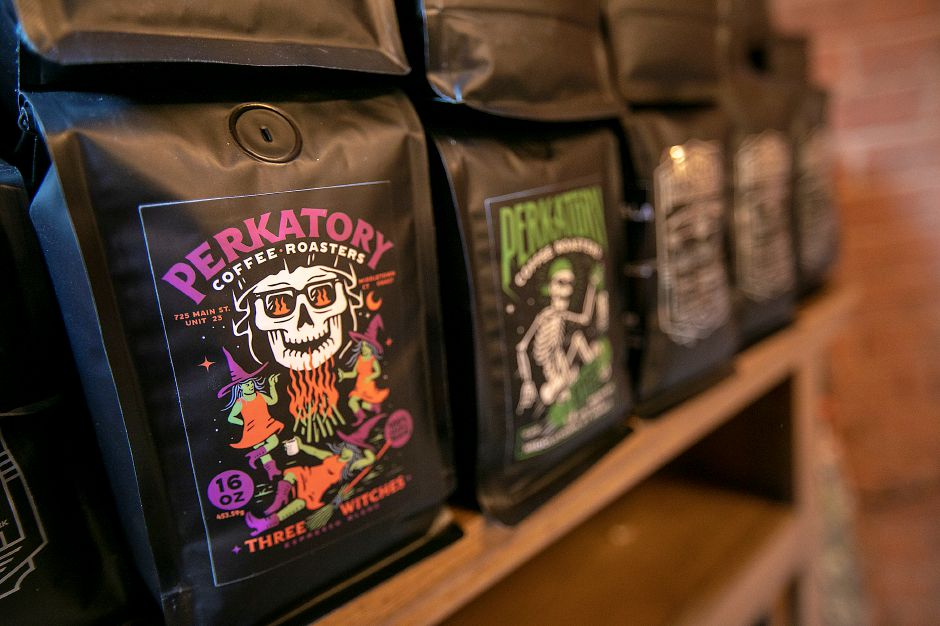 Three Witches coffee, one of a variety at Perkatory Coffee Roasters in Factory Square, 168 Center St. Suite 108 in Southington, Wed., Jun. 3, 2020. Dave Zajac, Record-Journal