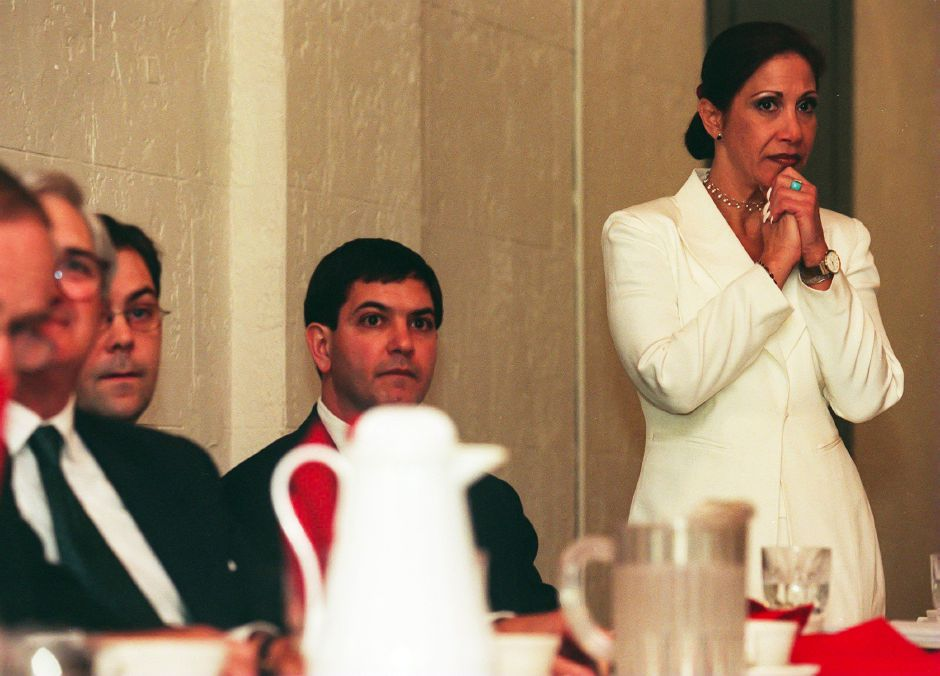 RJ file photo - Lauren Mandel, president of the Napier Co. listens to shareholders