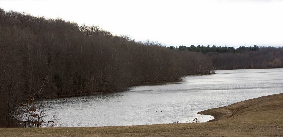 Broad Brook Reservoir in Meriden, Friday, January 27, 2017. The city's reservoir levels remain below desired capacity as the area continues to experience drought-like conditions, officials say. | Dave Zajac, Record-Journal