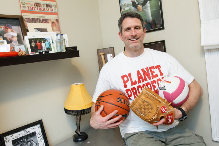 Southington's Kevin Meier founded Planet Prospect, a recruiting service that helps high school athletes create their own website, load it with stats, grades, video and newspaper articles, and then email their link to any coach in the country.| Justin Weekes / For the Record-Journal