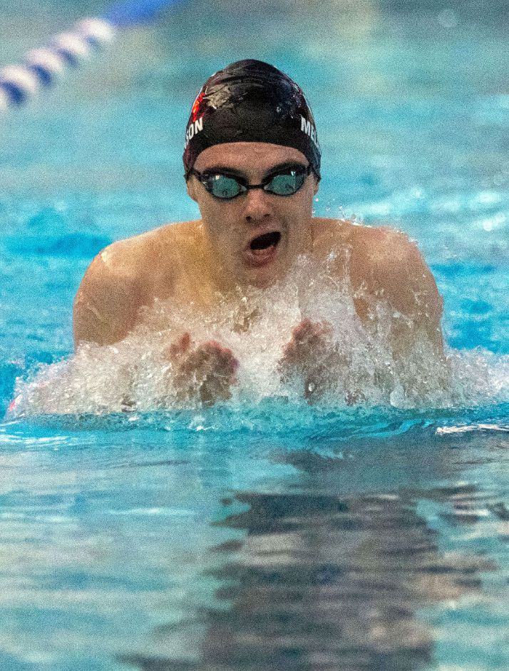 Southington senior Derek Melanson followed up a 20-win regular season with CCC West championships in the 200 IM and with the 200 medley and 400 freestyle relays. Aaron Flaum, Record-Journal