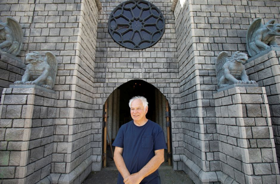 Ernie Romegialli, creator of The Haunted Graveyard, stands at the entrance to the catacombs during a tour of the annual haunt at Lake Compounce in Bristol, Fri., Sept. 20, 2019. Dave Zajac, Record-Journal