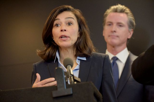 California Department of Public Health Director and State Health Officer Dr. Sonia Angell speaks to members of the press at a news conference in Sacramento, Calif., Thursday, Feb. 27, 2020. Newsom spoke about the state
