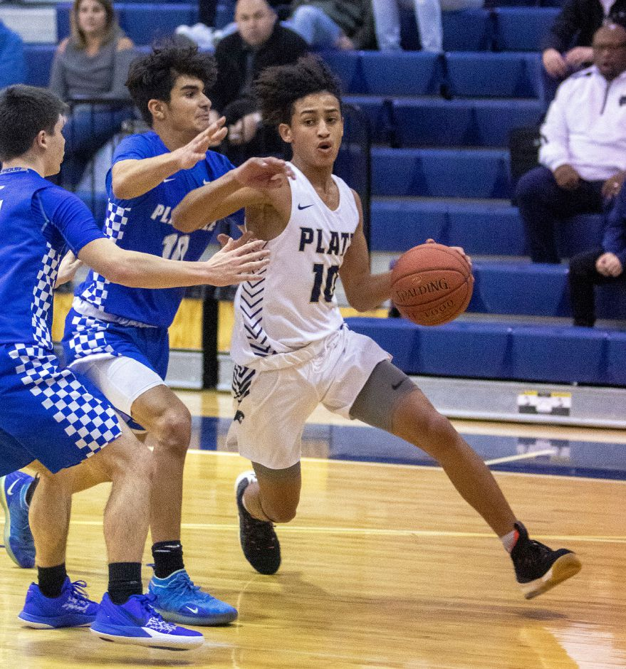 Platt freshman Anthony Nimani scored 30 points for the Panthers in Thursday's loss to Farmington. | Aaron Flaum, Record-Journal